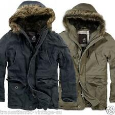 BRANDIT VINTAGE EXPLORER JACKET MENS SHORT MILITARY PARKA WARM WINTER ARMY COAT