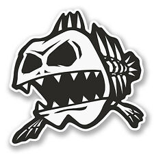 2 x Zombie Fish Vinyl Sticker Decal iPad Laptop Car Bike Helmet Fishing #5817