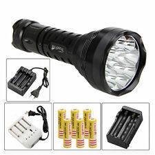 TrustFire Super Bright  80W 15000Lm 12xCREE XML R8 LED Flashlight Torch 6x18650