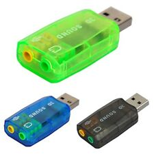 USB External 5.1 3D Sound Card Audio Adapter for PC Desktop Notebook USB Port V1
