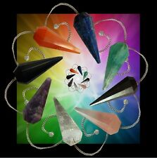 Crystal Dowsing Pendulum, Quartz, Scrying Point- Chakra Healing-Reiki