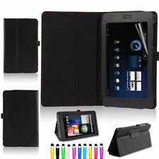 Black Leather Case Cover for Asus Google Nexus 7 1st Gen Tablet 2012
