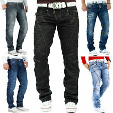 Herren Jeans Hose Mens Pants Straight Slim Cut Fit Cargo Denim Top Mod. Marken