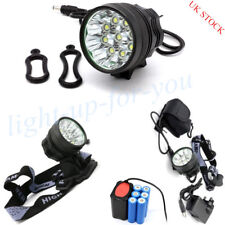 12000Lm 9x Cree T6 LED Bicycle Bike Light Lamp Headlamp+Rear Tail Lamp Taillight