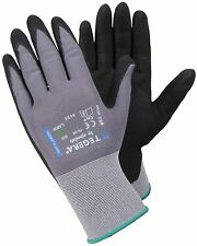 1 - 12 Pairs TEGERA Oil Resistant Nitrile Coated Palm Work Gloves S M L XL XXL