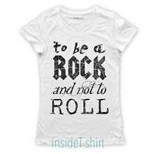MAGLIETTA ROCK AND ROLL maglia donna led zeppelin song lyrics cool T-SHIRT GIRL