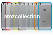 Transparent Clear Silicone Back Cover Case for iPhone 5C + 1 Screen guard