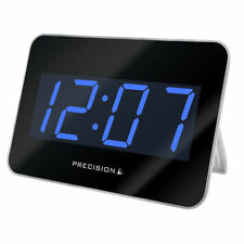 Large Clock Radio Controlled Alarm Precision Digital Time Tablet Style Shiny