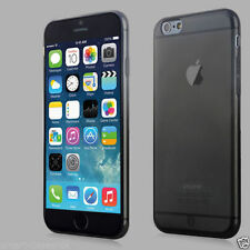 Black Apple iPhone 6 4.7 or 6 PLUS 5.5 Flexible Back Case Cover + Protector