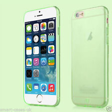 Green Apple iPhone 6 4.7 Flexible Back Case Cover + Protector