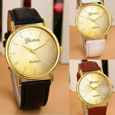 MEN'S GENEVA FAUX LEATHER STRAP QUARTZ  WRIST WATCH. SENT BY FIRST CLASS POST