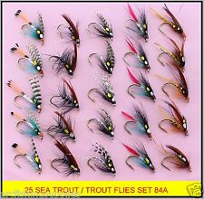 25 Trout / Sea Trout Fly Fishing Flies 84 hook sizes 10, 12 & 14 FREE SHIPPING