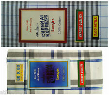 Pure 100% Cotton Excellent quality open Lungi 2 Meters
