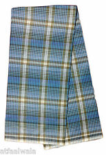 100% Cotton Open Blue with Brown checkered lungi Relax wear 2 Meter