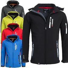 Geographical Norway TRIDENT Herren Softshell Funktions Outdoor Jacke wasserfest