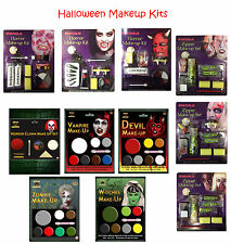 Halloween Make Up Kits Zombie Vampire Devil Complete Make Up Sets in One Listing