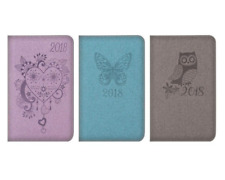 2018 Pocket Size Diary Week To View WTV Owl /Heart/Butterfly Fashion design Gift