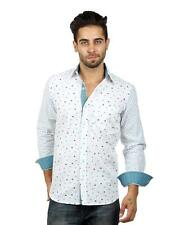 S9 MEN Cotton Casual Twin Print Shirt With Rollup Sleeve (S9-FS-226)