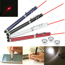 Puntatore LASER POINTER 4 in1 LED TORCIA input Penna a sfera Touch Screen