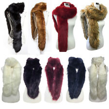 Gorgeous large designer style faux Fur Collar Scarf Shawl  Wrap Stole Scarves