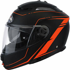 CASCO HELMET MODULARE AIROH 2016 PHANTOM S LEAD ORANGE MATT ARANCIONE OPACO MOTO