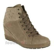 Scarpe Igi&Co Sneakers donna 48253 Taupe moda Made in Italy tacco interno Nabuck