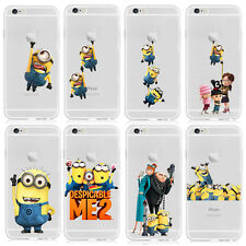 COVER iPHONE 6 6S Custodia RIGIDA TRASPARENTE MINION MINIONS Cattivissimo Me