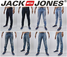 Mens Jack Jones Designer Denim Comfort Fit Jeans Stylish Trendy Tapered Fit