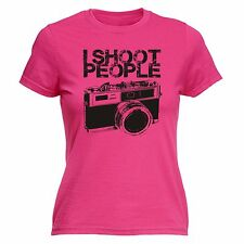 I Shoot People Camera Ladies T-SHIRT Cam Photo Photography Funny Gift birthday