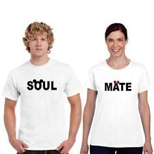 Giftsmate Soulmate Mickey Minnie Men Women Cotton Couple Tshirts, Love Gifts
