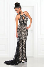 Beautiful Long Evening dress with lace black Womens Evening Dress