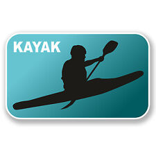 2 x 10cm Kayaking Vinyl Sticker Decal Laptop Car Kayak Canoe Gift Rafting #6552