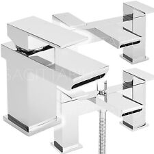SAGITTARIUS MUSE BATHROOM TAPS CHROME BASIN MIXER BATH SHOWER FILLER SINK MODERN