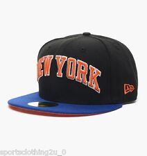 NEW YORK KNICKS  - NEW Era 59Fifty Fitted Peak  Cap . NBA BLUE   bnwt   NE2