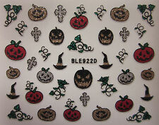 BLE915D 926D HALLOWEEN glitter Adesivi unghie nail art 3D stickers smalto gel