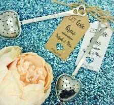Personalised Heart Shape Tea Infuser Wedding Favor Gift Tag / Label