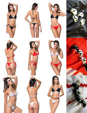 EXCELLENT QUALITY Brazilian Thong Bikini Tie Side Red Black White 6 8 10 12 BEAD