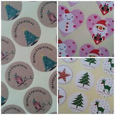 Christmas Stickers, Seals ~ Perfect for craft, cards, presents, kids and tags