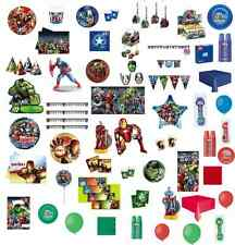 KIT COMPLEANNO COMPONIBILE AVENGERS ASSEMBLE CAPITAN AMERICA HULK IRON MAN PARTY