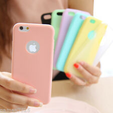 Candy Colour Ultra Thin Soft Silicon Back Case Cover For Apple Iphone 4 5 6
