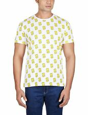 Mens The Simpsons Bart Round Neck Half Sleeve T Shirt by Free Authority