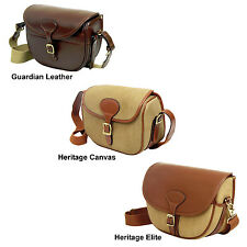 Guardian Heritage Cartridge bag 125 capacity leather or canvas - brass fittings
