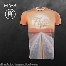 FLY53 MENS ORANGE FRONTIER T SHIRT RRP £22 BRAND NEW/TAGS - SAVE 75% OFF