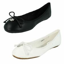 Ladies Spot On Ballerina Flat Shoes The Style - F80014