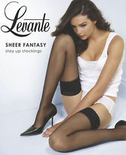 LEVANTE - SHEER FANTASY Stay Up Stockings with Lace Top -Londra  - X Tall BNIP