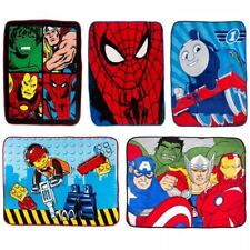 DELUXE CARTOON CHARACTER THEME CORAL FLEECE BLANKET THROW CHILDRENS KIDS BEDDING