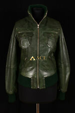 Lopez Dark Green (3758) Ladies Smart Casual Real Lambskin Bomber Leather Jacket