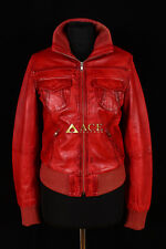 Lopez Red (3758) Ladies Smart Casual Real Lambskin Bomber Leather Jacket