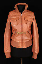Lopez Tan (3758) Ladies Smart Casual Real Lambskin Bomber Leather Jacket