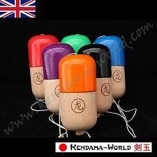 Dragon Kendama Wooden Pill Toy, Traditional wooden skill game. Choice of colours